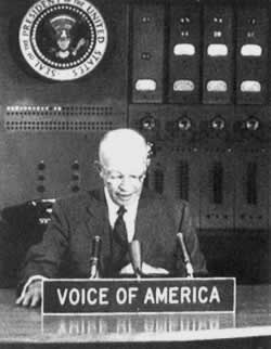 1957-1-5 Eisenhower proposed aggressive expansion plans attempt to control the Middle East