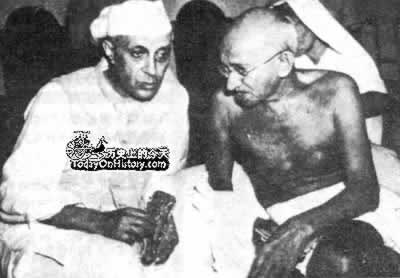 1942-1-16 Nehru succeed Gandhi became the Congress Party leaders