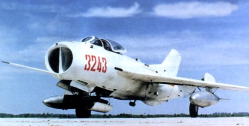 1966-1-17 Chinese-made F-7 aircraft a successful maiden flight
