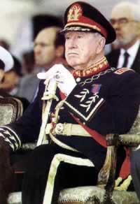 1998-10-17 Chilean President Augusto Pinochet detained in England from the Chilean relations storm