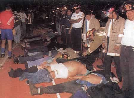 1996-10-16 Guatemala big football stadium tragedy