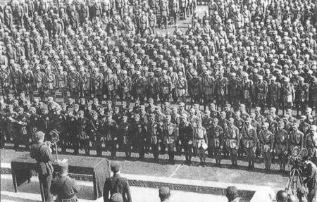 Chiang Kai-shek launched hundreds of thousands of educated youth to join the army movement