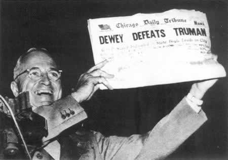 1948-11-2 Truman re-elected President of the United States