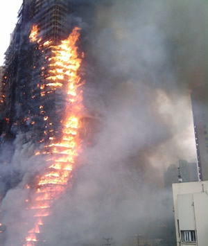 2010-11-15 Residential building in Jing'an District, Shanghai catastrophic fire