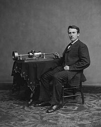1877-11-21 Edison announced the invention of the phonograph