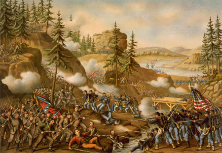 1863-11-23 Third in the American Civil War Battle of Chattanooga started