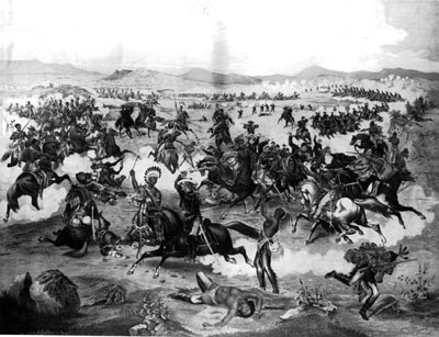 1876-11-25 Indians defeat U.S. forces in the Battle of the Little Bighorn River