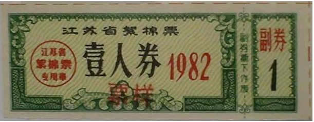 1983-12-1 The first time that China temporarily waive the cloth ticket Fiber Cotton votes