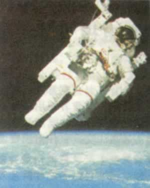 1984-2-7 The first human space walk experiment