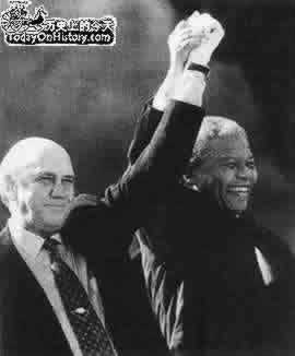 1990-2-2 South African President FW de Klerk lifted the ban on the ANC 30 years