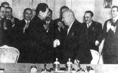 1959-2-7 The signing of the Sino-Soviet economic cooperation agreements