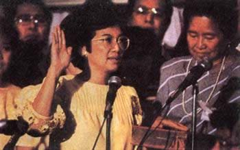 1986-2-27 Corazon Aquino became president of the Philippines