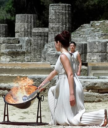 2008-2-27 High priest of the Greek Olympic Committee to determine the flame lighting ceremony of the 29th Beijing Olympic Games