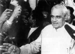 1998-3-4 Vajpayee was elected new Prime Minister of India