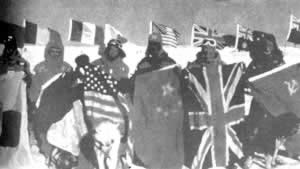 1990-3-3 International Trans-Antarctic expedition team arrived at the end of