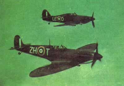 1944-3-8 Spitfire aircraft power play in the fight against Germany