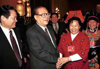2001-3-8 Jiang Zemin pointed out to create a socialist modernization construction