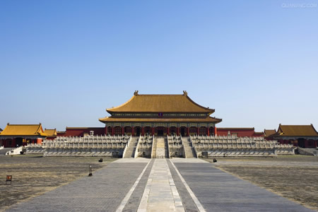 1695-4-8 Beijing Forbidden City Hall of Supreme Harmony (commonly known as the throne room) again alterations to be completed