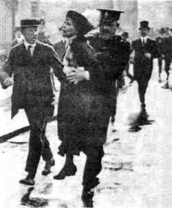 1913-4-3 American feminists Mrs. Pankhurst sentenced to jail