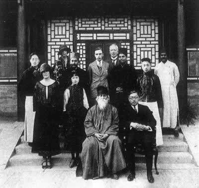1924-4-12 Indian poet Rabindranath Tagore's visit to China