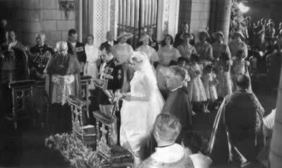 1956-4-19 Prince of Monaco and actress Grace Kelly married