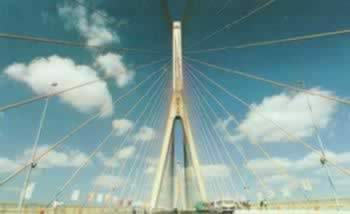 1991-4-29 The world's first cable-stayed bridge - Yangpu Bridge commenced