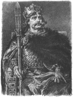 1025-4-18 Bo Liesi Oaf I was crowned history as the first King of Poland