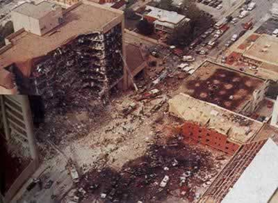 1995-4-19 Oklahoma City federal building explosion caused 168 deaths