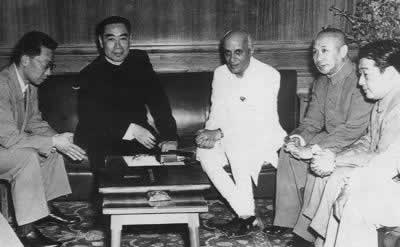 1954-4-29 China and India to determine the Five Principles of Peaceful Coexistence.