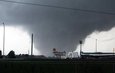 2011-4-29 Number of southern U.S. states hit by tornadoes