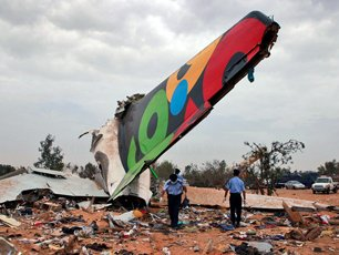 2010-5-12 Libya crash caused 103 people were killed and one survived