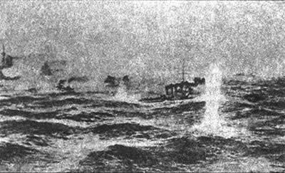 1905-5-5 Russian Pacific Fleet in the Tsushima Strait capsize