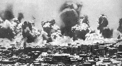 1940-5-12 The Japanese implementation of 101 combat Agreement airstrike Chongqing