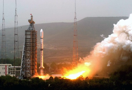2008-5-27 China's first new generation of polar-orbiting meteorological satellite FY-launched at the Taiyuan Satellite Launch Center