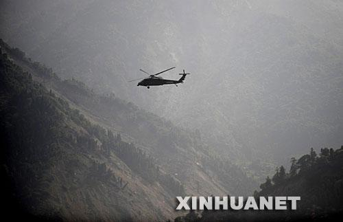 2008-5-31 Earthquake relief troops of the Chengdu Military Region, one m -171 helicopter crash