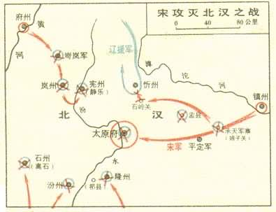 0979-6-3 Song Taizong off the North Han, the end of the Five Dynasties and Ten Kingdoms split situation