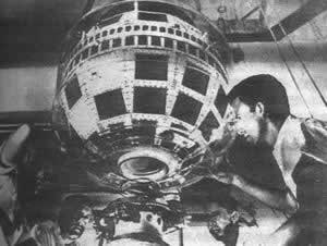 1962-7-11 Global television satellite for the first time broadcast