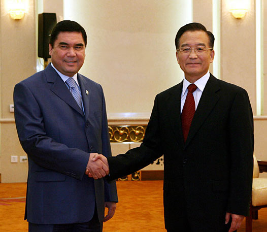 2007-7-18 Wen Jiabao Meets with President of Turkmenistan