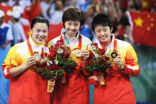 2008-8-22 Zhang Yining defending Beijing Olympic table tennis champion
