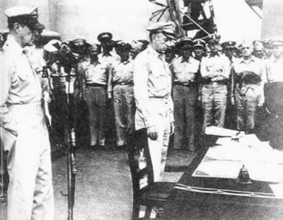 1945-9-2 Japan signed the unconditional surrender