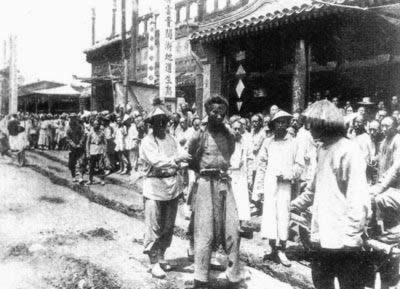 1900-9-3 The Boxer Rebellion four cutting Jiaobu the kill the outskirts of Beijing Boxer