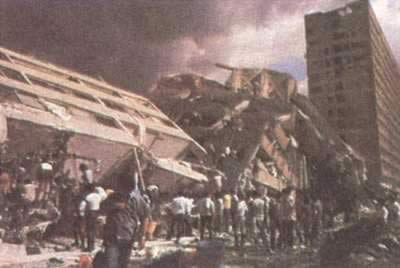 1985-9-21 Mexico, thousands of people were killed in a major earthquake
