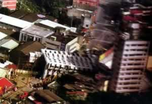 1999-9-21 Taiwan Hualien southwest of a strong earthquake the continent relief was slander