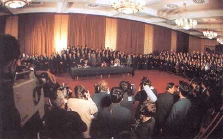 1984-9-26 British initialed the Joint Declaration on the Question of Hong Kong